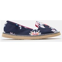 Navy Whitstable Floral 204695 Canvas Pumps  Size Adult 7