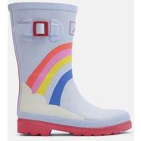 BLUE RAINBOW Printed Wellies  Size Childrens Size 9