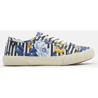 NAVY BOTANICAL Coast pump Canvas Lace Up Trainers  Size Adult Size 8