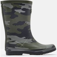 Khaki Camo Roll Up Wellies  Size Childrens 8
