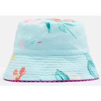 Aqua Floral Sunseeker Reversible Hat  Size 8-12