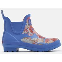 BLUE FLORAL Wellibobs Short Printed Wellies