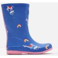 Blue Unicorn Clouds Roll Up Wellies  Size Childrens 11