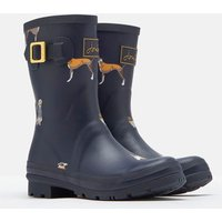 Navy Harbour Dogs Molly Mid Height Printed Wellies