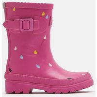PINK RAINDROPS Printed Wellies  Size Childrens Size 8