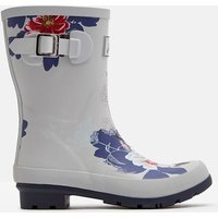 SILVER FLORAL Molly Mid Height Printed Wellies  Size Adult 6