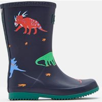 Dark Blue Dinos Roll Up Wellies  Size Childrens 1