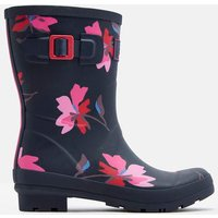 NAVY MULTI FLORAL Molly Mid Height Printed Wellies  Size Adult Size 4