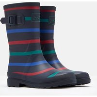 Navy Multi Stripe 207217 Printed Wellies