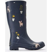 Grey Dogs Roll Up Wellies  Size Adult 8
