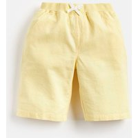Yellow Huey Linen Mix Woven Short 1-12 Yr