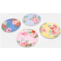 Blue Floral Multi Garden Melamine Dinner Plates Set Of Four  Size One Size