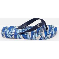 Shark Dive Stripe 205973 Printed Flip Flops  Size Childrens 10