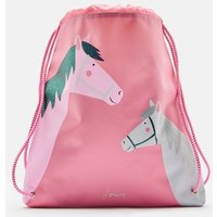 Pink Horses Active Drawstring Bag  Size One Size