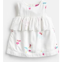 White Fairy Floral Alice Woven Printed Top 1-6 Yr  Size 1Yr