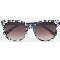 Creme Navy Polka Tresco Cream And Navy Floral Sunglasses  Size One Size
