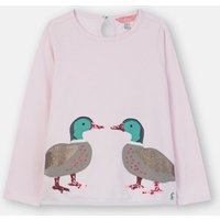 Chalky Pink Ducks Ava Applique T-Shirt  1-6 Years  Size 5Yr