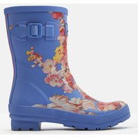 Blue Floral Molly Mid Height Printed Wellies  Size Adult 6