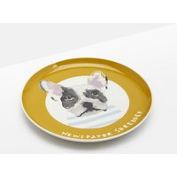 GOLD DOG Kitchen side plate Single Porcelain Printed  Size One Size