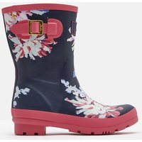 NAVY WHITSTABLE FLORAL 205162 Short Printed Welly  Size Adult 4
