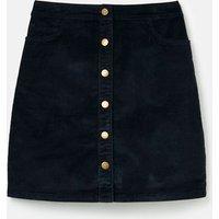 213106 Cord Button Down Skirt