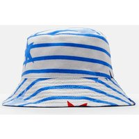 WHITE JUMBO STAR STRIPE Brit Reversible Bucket Hat  Size 1yr-2yr