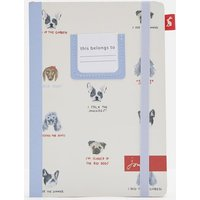 White All Over Dogs A5 Notebook Hardback Printed  Size One Size