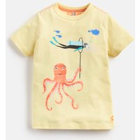 Yellow Octopus And Diver Ben Screenprint T-Shirt 1-6Yr  Size 4Yr