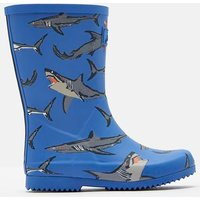LIGHT BLUE SHARKS Roll up Wellies  Size Childrens 9