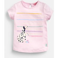Chalky Pink Dalmatian Pixie Screenprint T-Shirt 1-6 Years  Size 1Yr