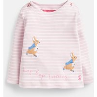 Pink Stripe Hopping Peter Harriet Applique Top  Size 18M-24M