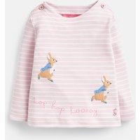 Pink Stripe Hopping Peter Harriet Applique Top  Size 9M-12M