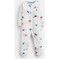 Cream Dinos Ziggy Printed Babygrow With Feet  Size 3M-6M