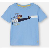 Blue Plane Chomp Short Sleeve Applique T-Shirt 1-6 Years  Size 2Yr