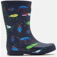 NAVY BEETLE Roll up Wellies  Size Childrens 10