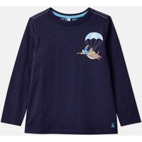 Navy Parachute Dog Finlay Screenprint T-Shirt 1-6 Years  Size 1Yr