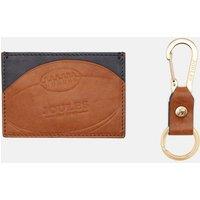 Hobson Rugby Leather Card Holder and Keyring Set