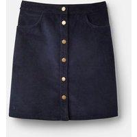 Marine Navy 207523 Cord Button Down Skirt  Size 8