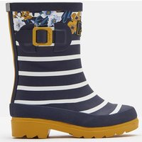 Navy Botanical Printed Wellies  Size Childrens Size 13