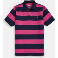 204564 Striped Pique Polo With Plain Sleeves