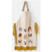 WHITE ALL OVER DOGS Kitchen apron Single Cotton  Size One Size