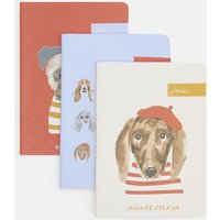 BLUE DOG MULTI Set of three notebooks A6  Size One Size