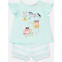 Aqua Seaside Animals Clara Applique T-Shirt Set  Size 12M-18M