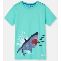 BLUE SHARK ATTACK 204639 Screenprint Tee  Size 11yr-12yr