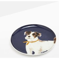 Navy Dog Kitchen Side Plate Single Painted  Size One Size