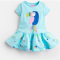 Aqua Fruit Toucan Katy Jersey Applique Dress  Size 9M-12M