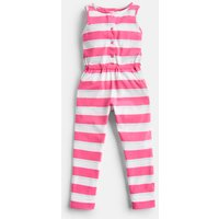Bright Pink White Stripe Bobbie Jersey Stripe Playsuit 1-6 Yr  Size 3Yr