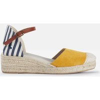 Navy Stripe Espadrille Wedges  Size Adult 7