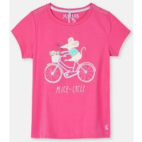 Bright Pink Mice-Cycle 204617 Screenprint Tee  Size 9Yr-10Yr