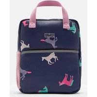 Navy Horses Adventure Rubber Backpack  Size One Size